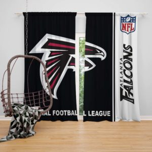 NFL Atlanta Falcons Bedroom Curtain