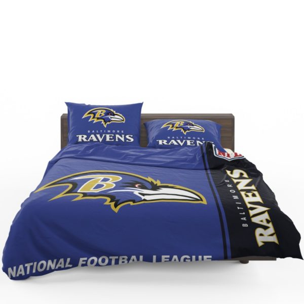 NFL Baltimore Ravens Bedding Comforter Set 4 (1)