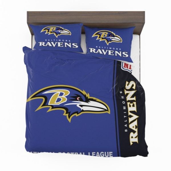 NFL Baltimore Ravens Bedding Comforter Set 4 (2)