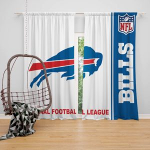 NFL Buffalo Bills Bedroom Curtain