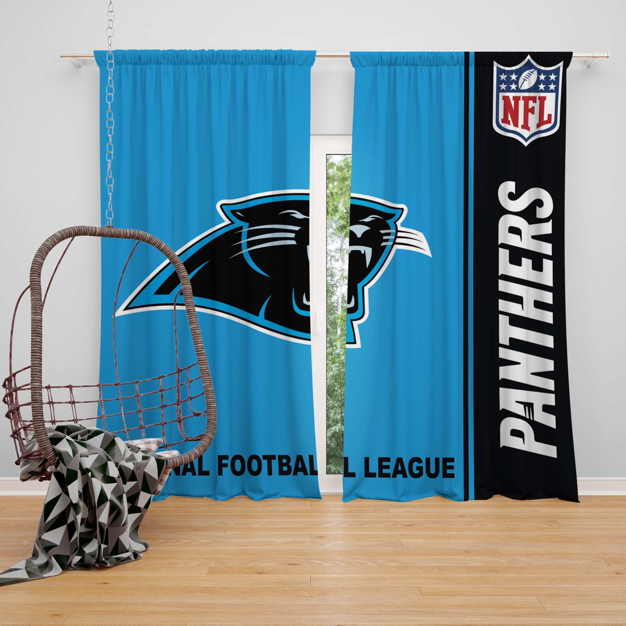 Nfl Carolina Panthers Bedroom Curtain Ebeddingsets