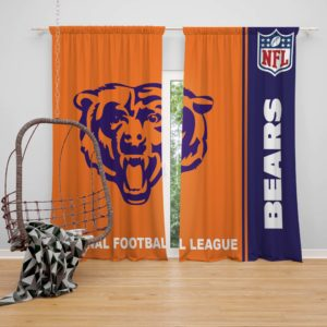 NFL Chicago Bears Bedroom Curtain