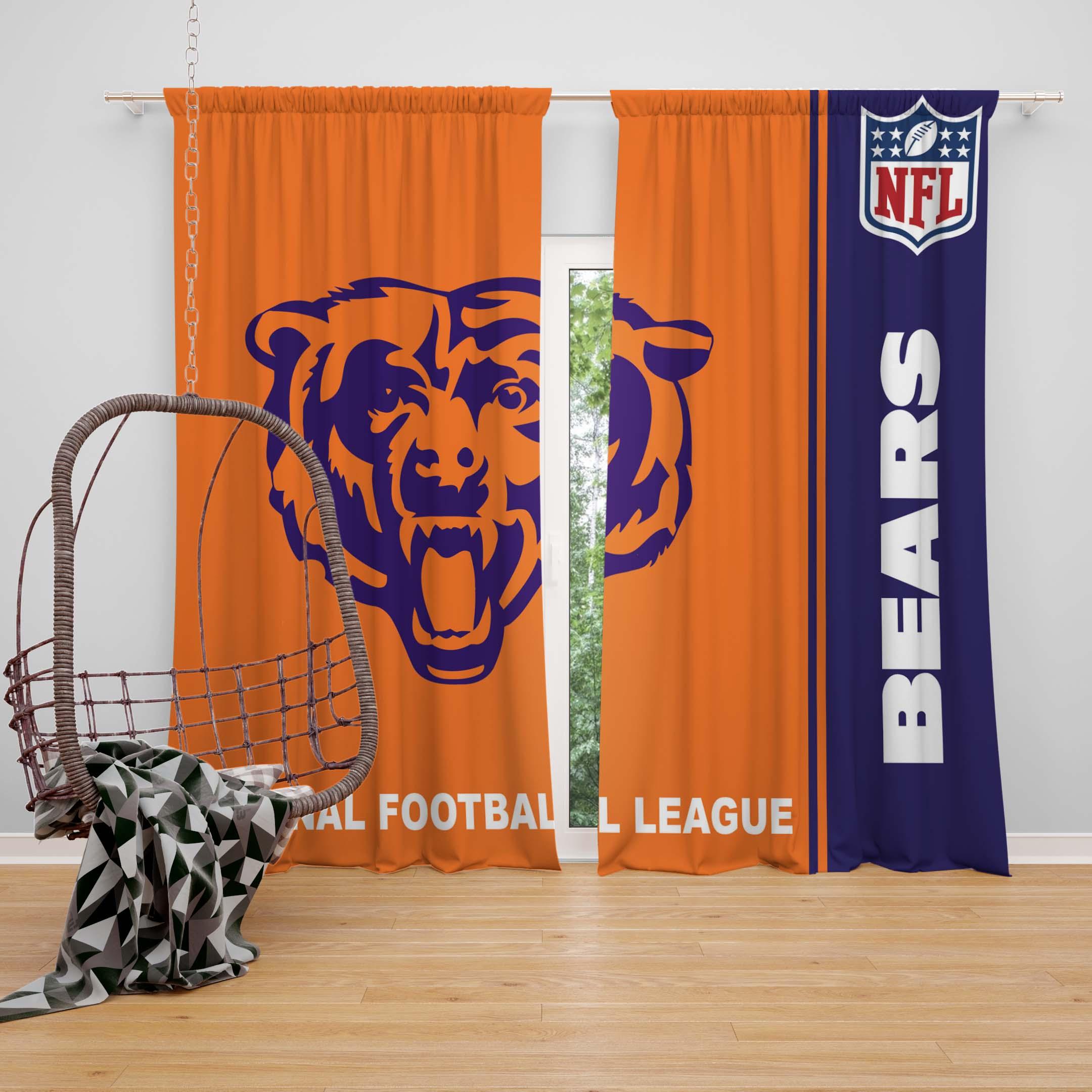 Nfl Chicago Bears Bedroom Curtain Ebeddingsets