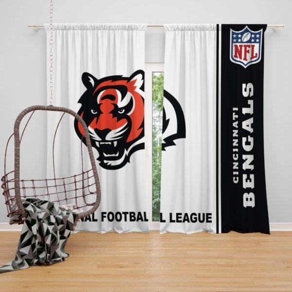 NFL Cincinnati Bengals Bedroom Curtain