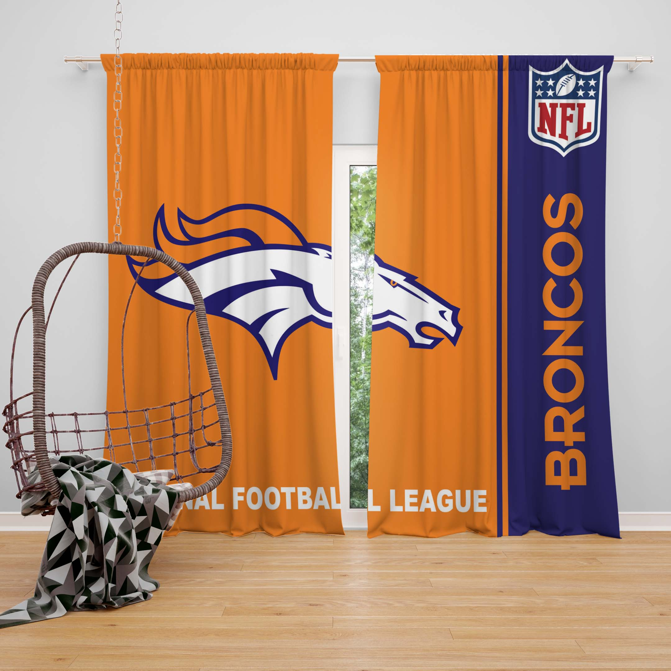 Nfl Denver Broncos Bedroom Curtain Ebeddingsets