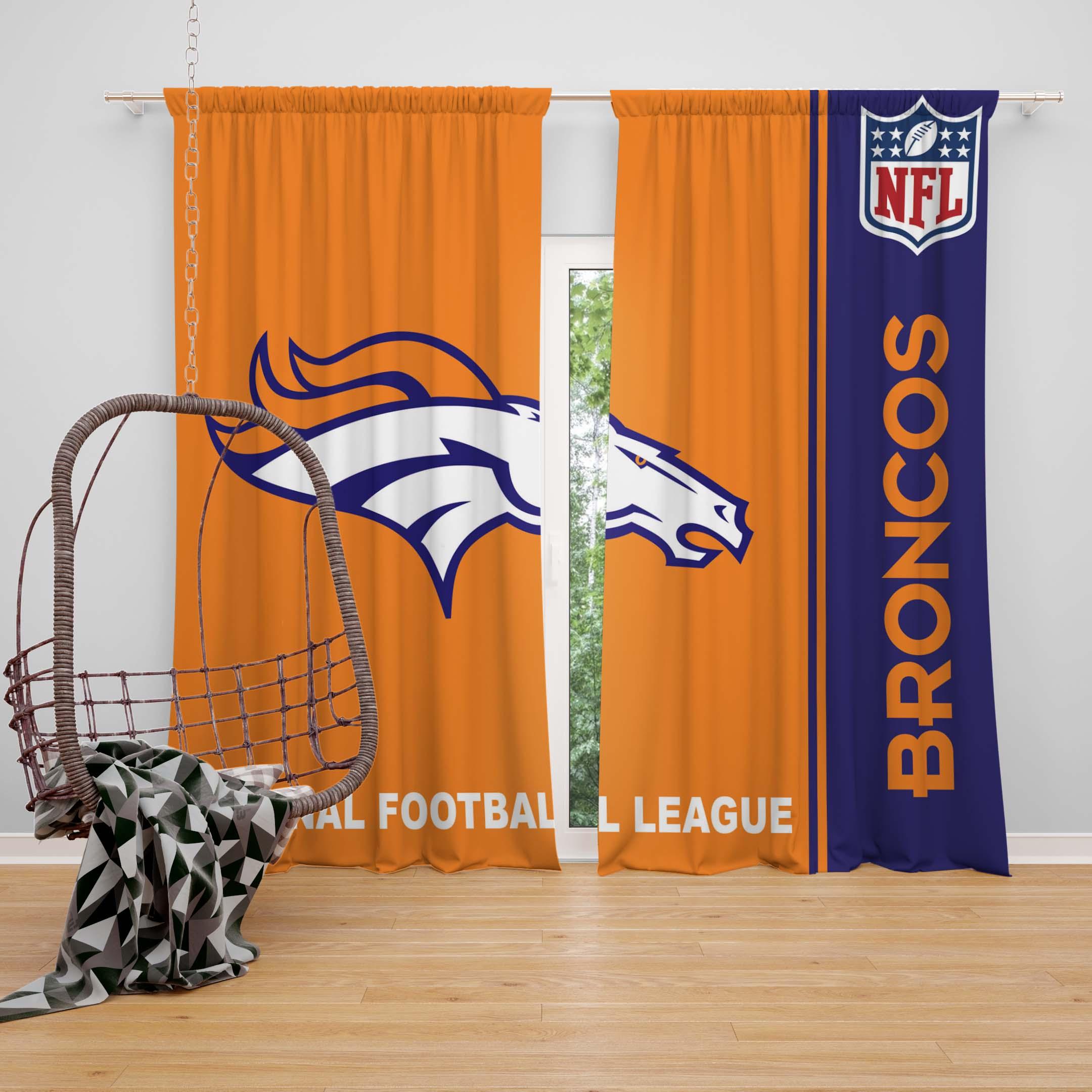 NFL Denver Broncos Bedroom Curtain