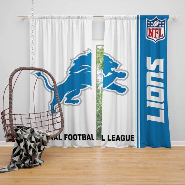 NFL Detroit Lions Bedroom Curtain