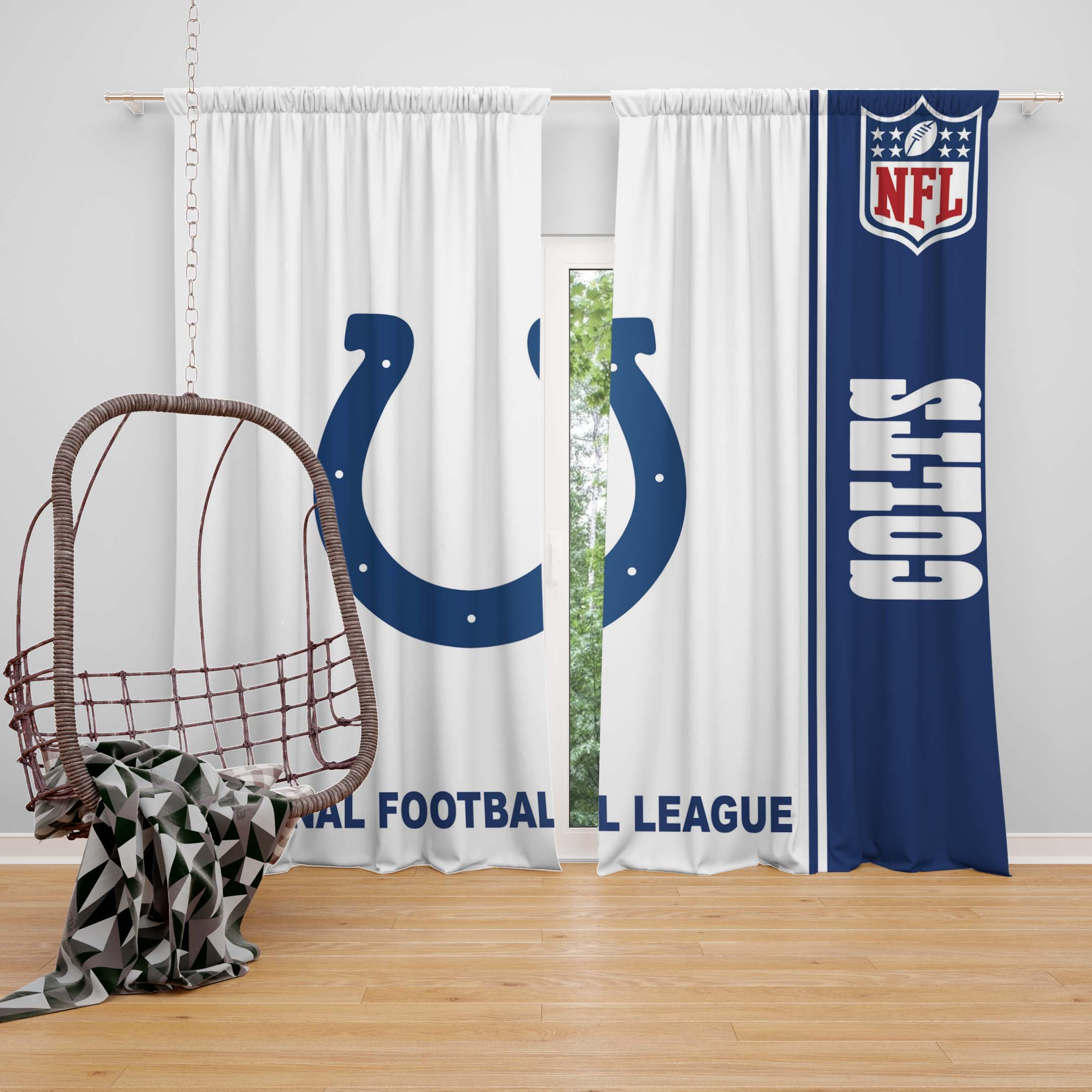 NFL Indianapolis Colts Bedroom Curtain