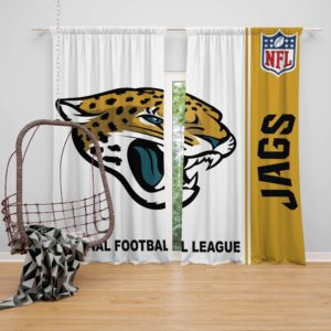 NFL Jacksonville Jaguars Bedroom Curtain