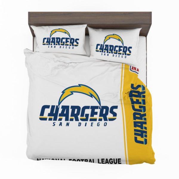NFL Los Angeles Chargers Bedding Comforter Set 4 2