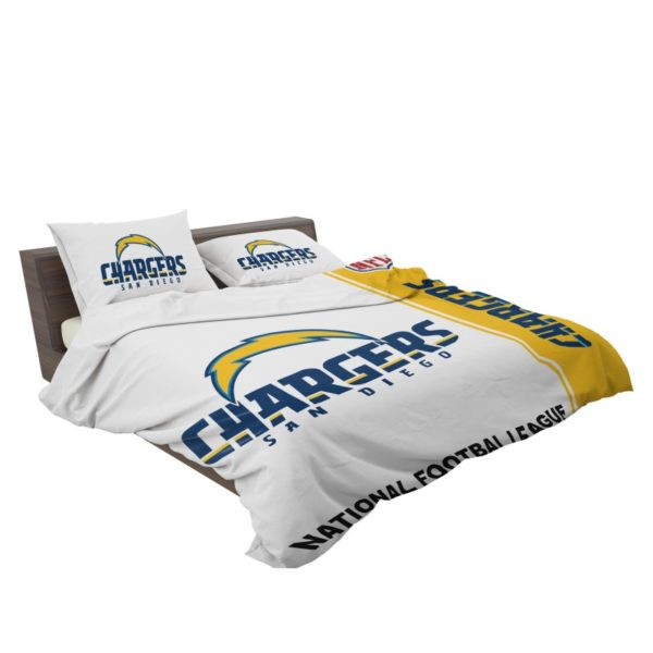 NFL Los Angeles Chargers Bedding Comforter Set 4 3