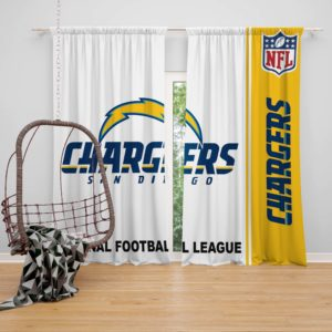 NFL Los Angeles Chargers Bedroom Curtain