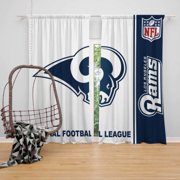 NFL Los Angeles Rams Bedroom Curtain