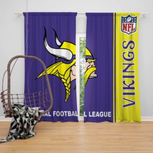 NFL Minnesota Vikings Bedroom Curtain
