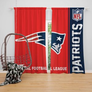 NFL New England Patriots Bedroom Curtain