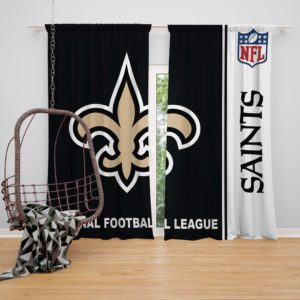 NFL New Orleans Saints Bedroom Curtain