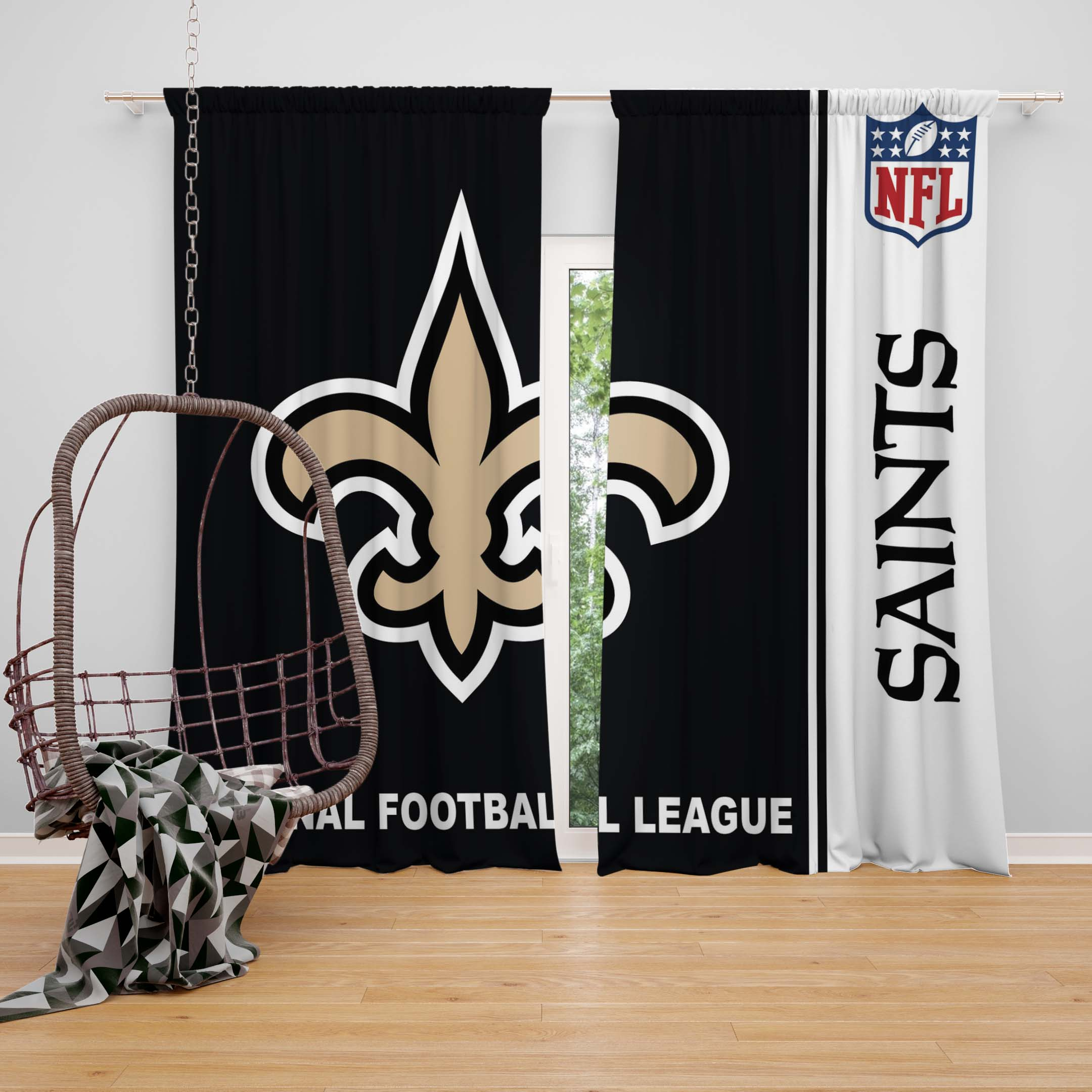 NFL New Orleans Saints Bedroom Curtain