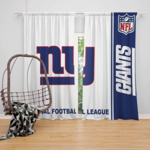 NFL New York Giants Bedroom Curtain