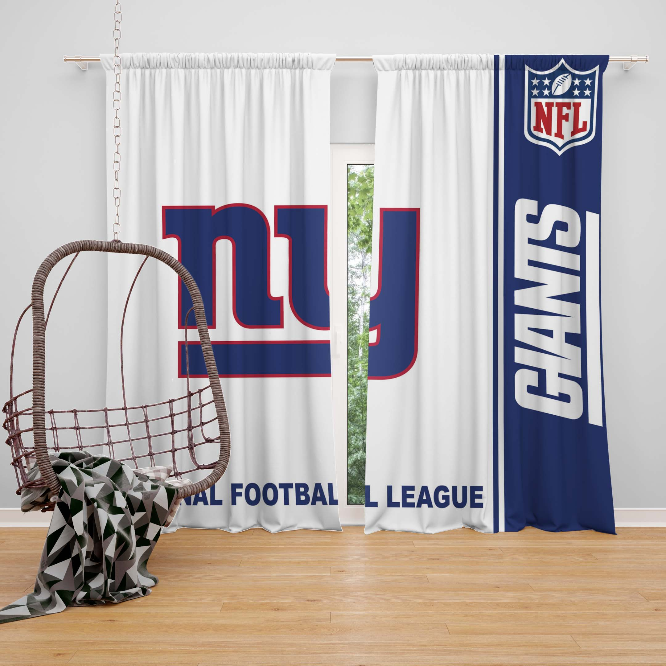 Nfl New York Giants Bedroom Curtain Ebeddingsets
