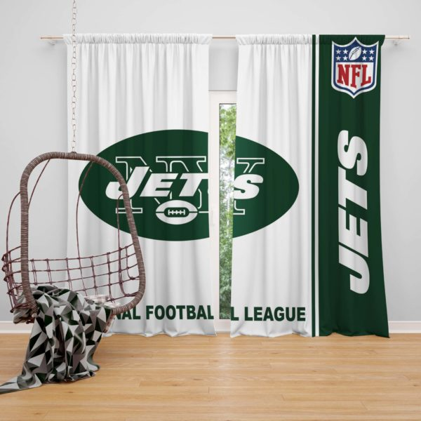 NFL New York Jets Bedroom Curtain