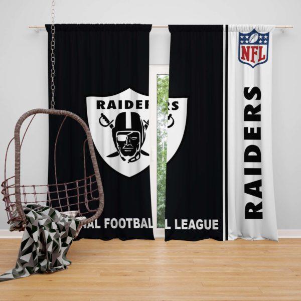 NFL Oakland Raiders Bedroom Curtain