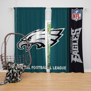 NFL Philadelphia Eagles Bedroom Curtain