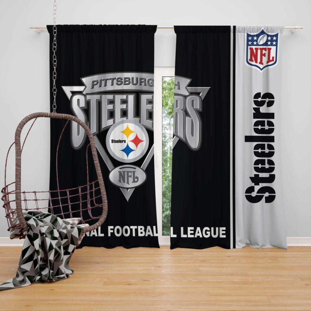 Nfl Pittsburgh Steelers Bedroom Curtain Ebeddingsets