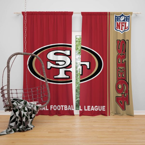 NFL San Francisco 49ers Bedroom Curtain