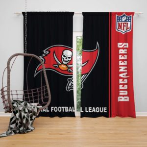 NFL Tampa Bay Buccaneers Bedroom Curtain
