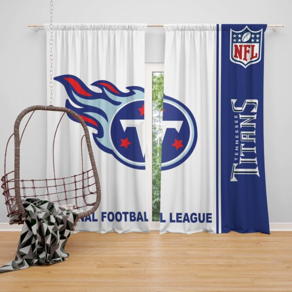 NFL Tennessee Titans Bedroom Curtain