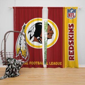NFL Washington Redskins Bedroom Curtain