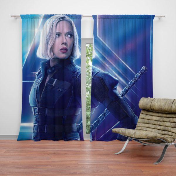 Natasha Romanoff Black Widow Marvel Avenger Curtain