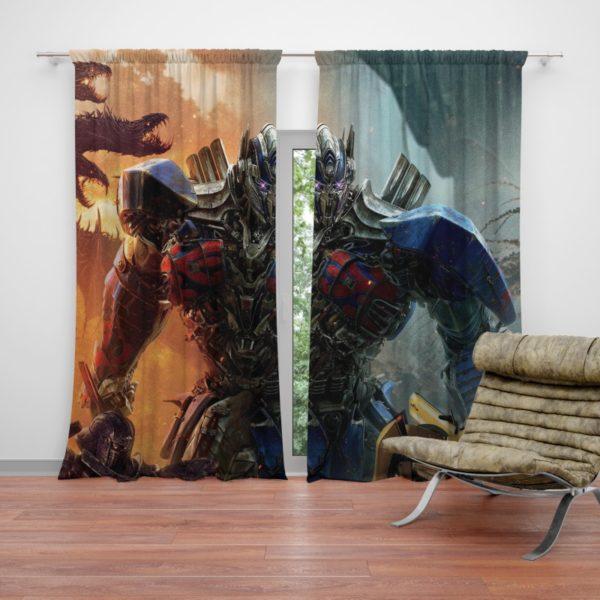 Optimus Prime Transformers the Last Knight Curtain