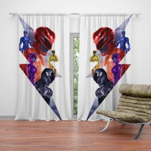 Power Rangers 5 Movie Themed Curtain