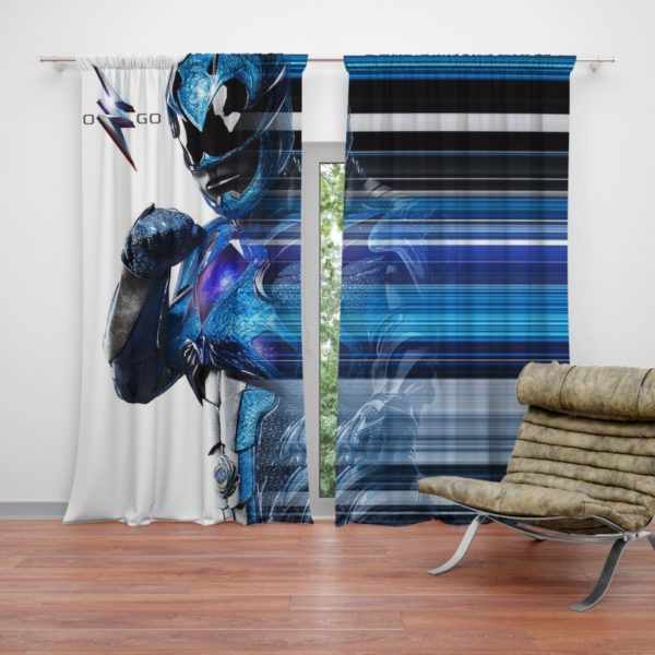 Power Rangers the Blue Ranger Curtain