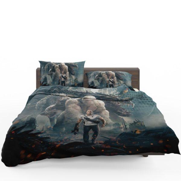 Rampage Dwayne Johnson White Gorilla Bedding Set