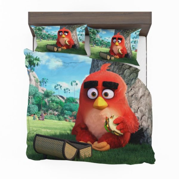 Red Angry Birds Movie Bedding Set2