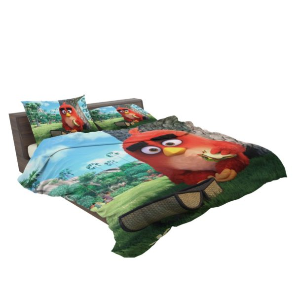 Red Angry Birds Movie Bedding Set3