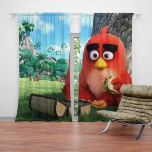 Red Angry Birds Movie Curtain