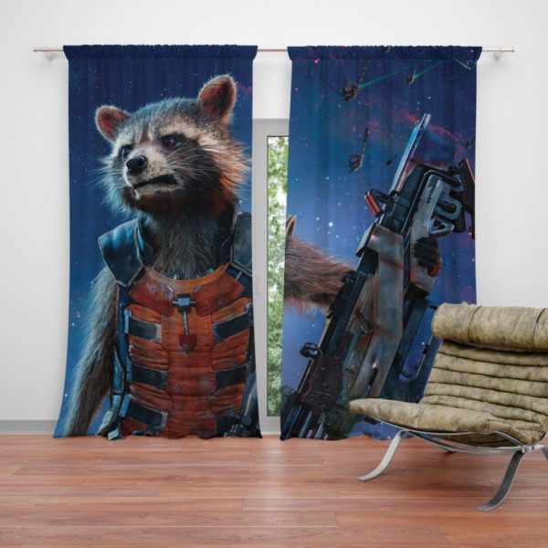 Rocket Raccoon Guardians of the Galaxy Curtain