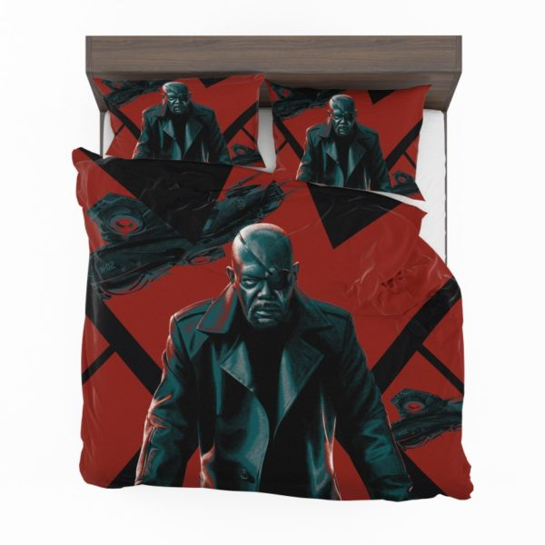 Samuel L Jackson Nick Fury Marvel Comics Bedding Set2