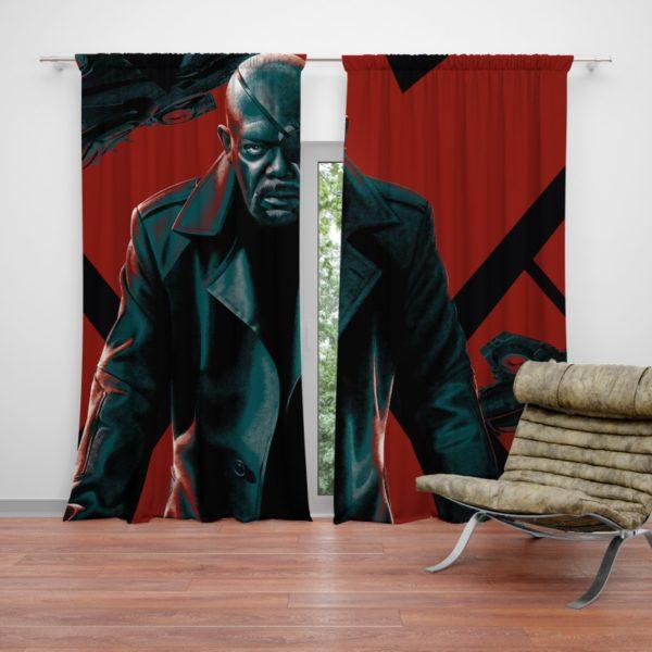 Samuel L Jackson Nick Fury Marvel Comics Curtain