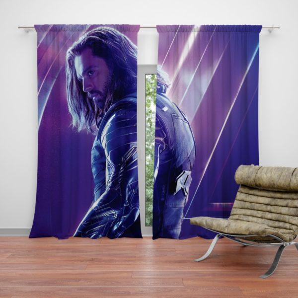 Sebastian Stan Bucky Barnes White Marvel Avenger Curtain