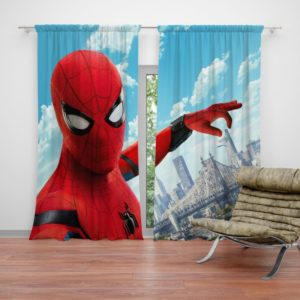 Spider Man Home Coming Movie Themed Curtain