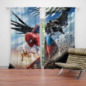 Spider Man Home Coming Teen Bedroom Curtain