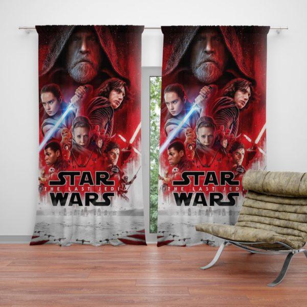 Star Wars The Last Jedi Movie Themed Teen Curtain