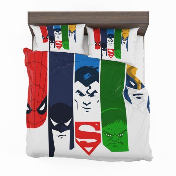 Superheroes Spider Man Batman Superman Hulk Wolverine Bedding Set2 600x600 - Superheroes Spider Man Batman Superman Hulk Wolverine Bedding Set