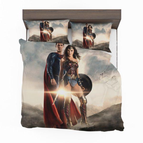 Superman And Wonder Woman Bedding Set2