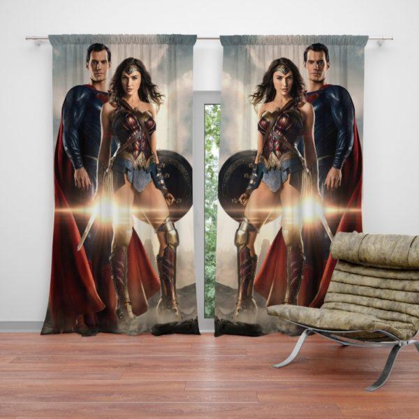 Superman And Wonder Woman Curtain