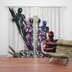 Teen Power Rangers 5 Movie Themed Curtain